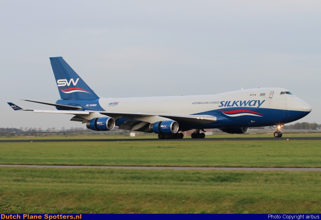 4K-SW800 Boeing 747-400 Silk Way Airlines by airbus