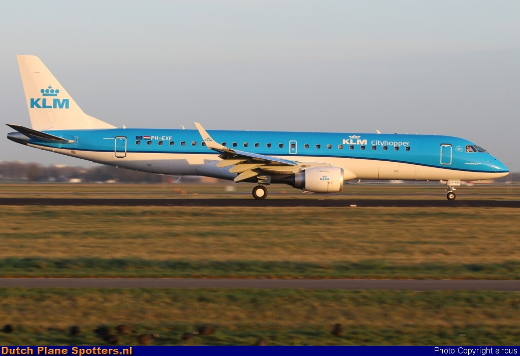 PH-EXF Embraer 190 KLM Cityhopper by airbus