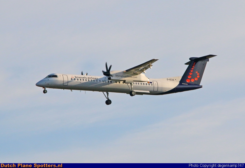 G-ECOI Bombardier Dash 8-Q400 Flybe (Brussels Airlines) by Herman Degenkamp