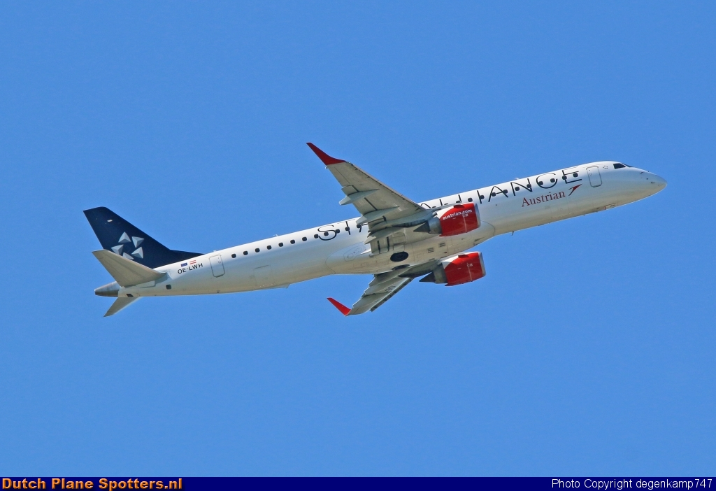 OE-LWH Embraer 195 Austrian Airlines by Herman Degenkamp