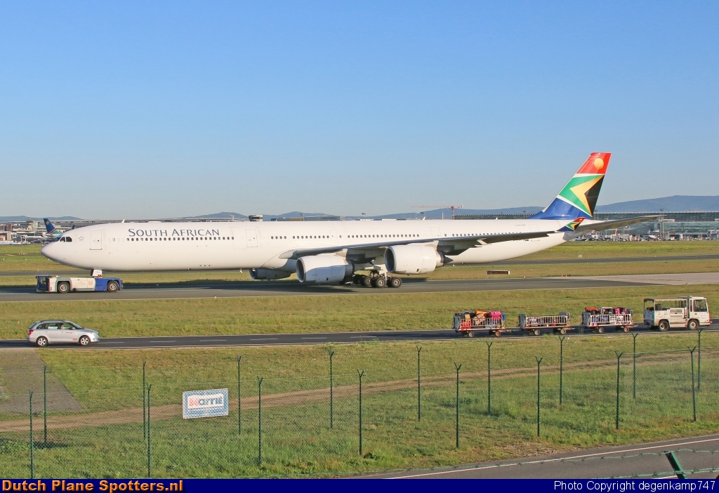 ZS-SNH Airbus A340-600 South African Airways by Herman Degenkamp
