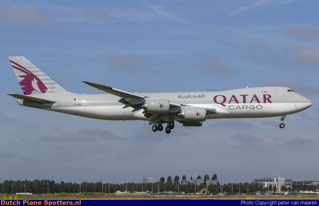A7-BGB Boeing 747-8 Qatar Airways Cargo by peter van maaren