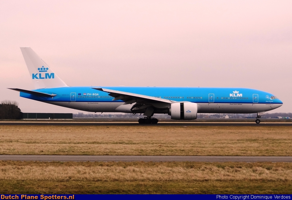 PH-BQA Boeing 777-200 KLM Royal Dutch Airlines by Dominique Verdoes