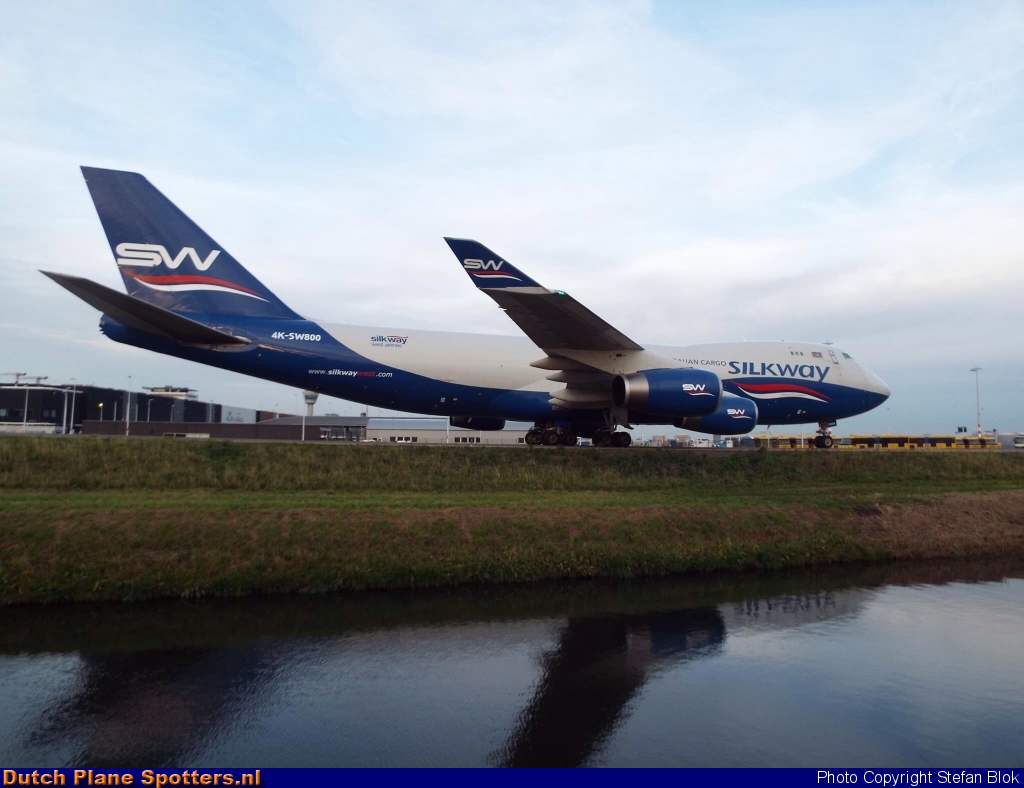 4K-SW800 Boeing 747-400 Silk Way Airlines by Stefan Blok