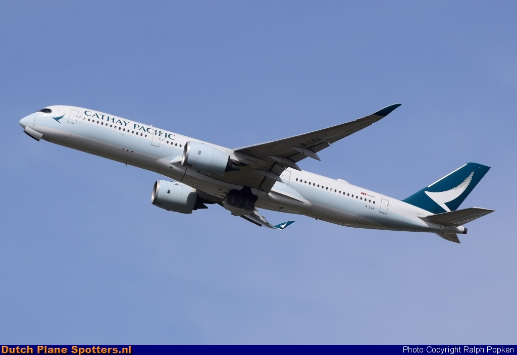 B-LRA Airbus A350-900 Cathay Pacific by Ralph Popken