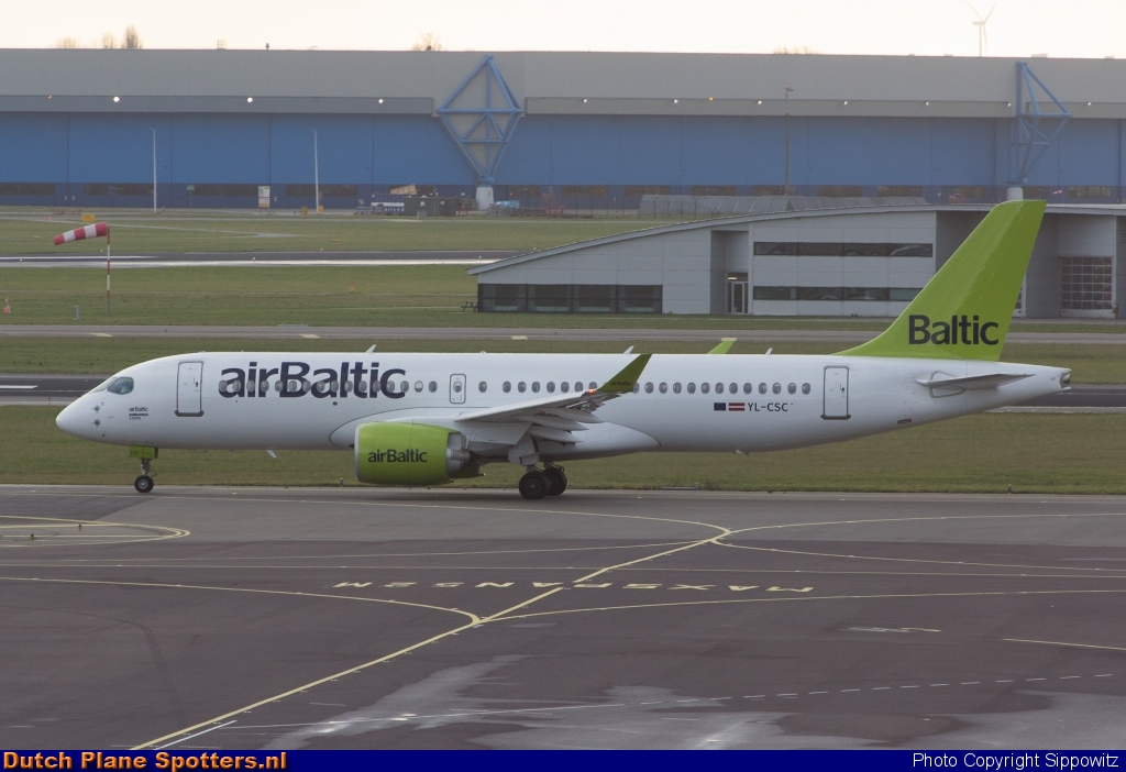 YL-CSC Airbus A220-300 Air Baltic by Sippowitz