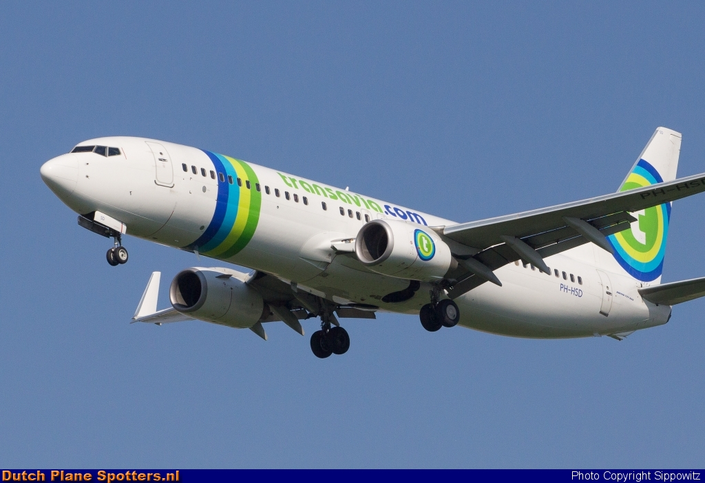PH-HSD Boeing 737-800 Transavia by Sippowitz