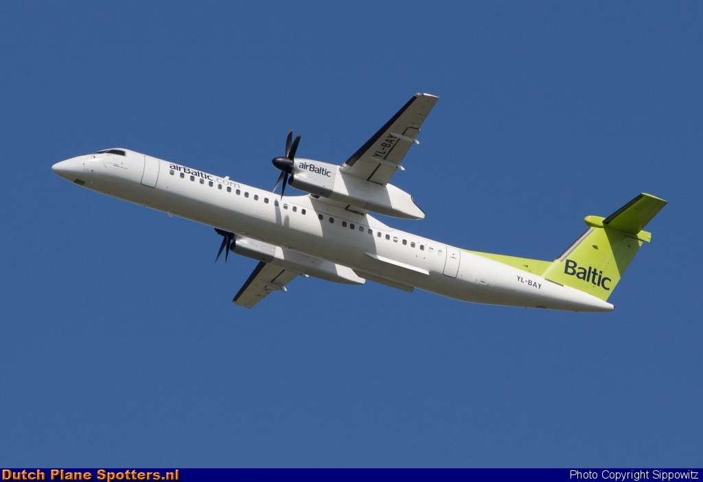 YL-BAY Bombardier Dash 8-Q400 Air Baltic by Sippowitz