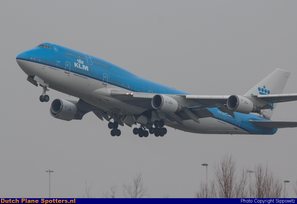 PH-BFL Boeing 747-400 KLM Royal Dutch Airlines by Sippowitz