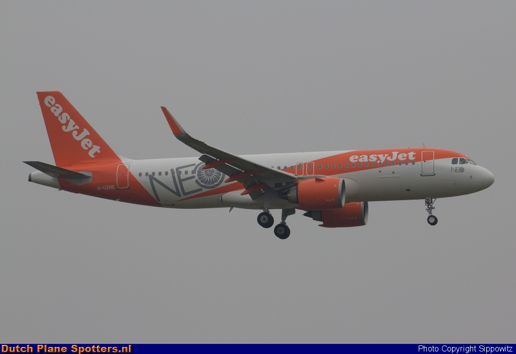 G-UZHE Airbus A320neo easyJet by Sippowitz