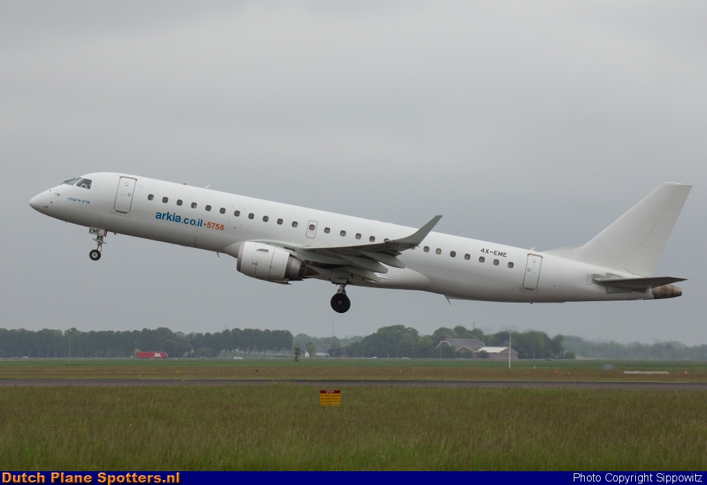 4X-EME Embraer 190 Arkia Israeli Airlines by Sippowitz