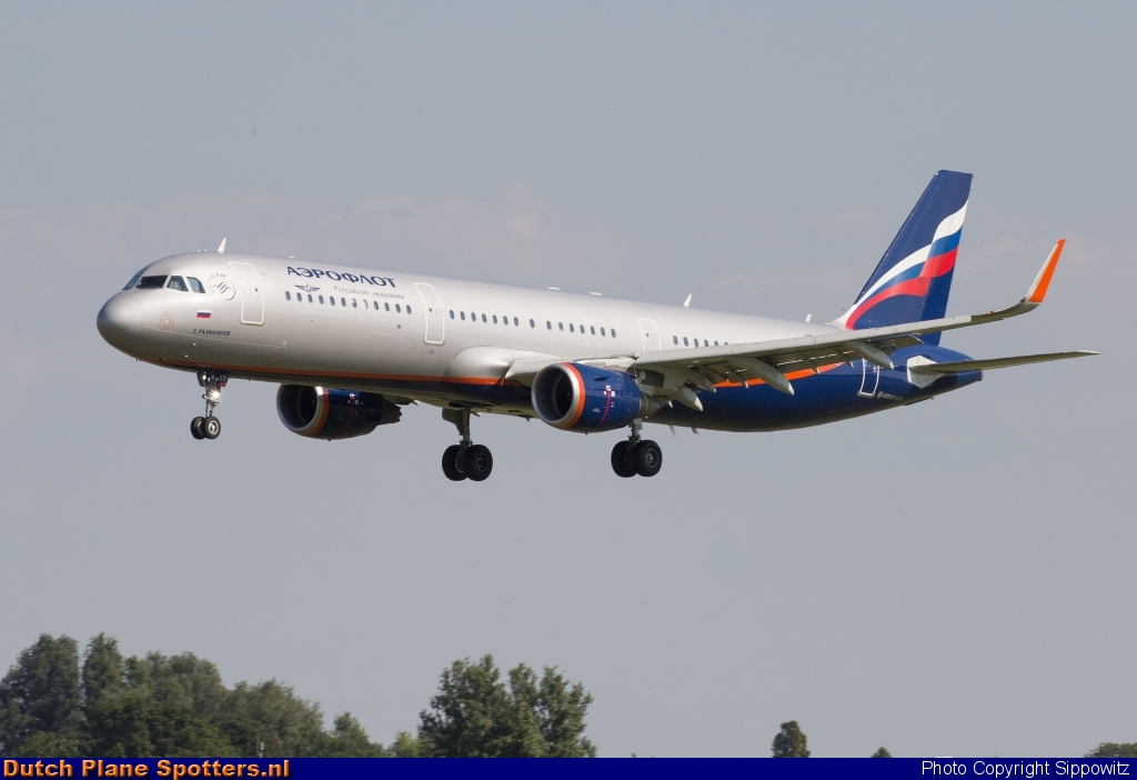 VP-BKR Airbus A321 Aeroflot - Russian Airlines by Sippowitz