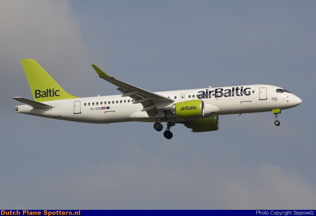 YL-CSI Airbus A220-300 Air Baltic by Sippowitz