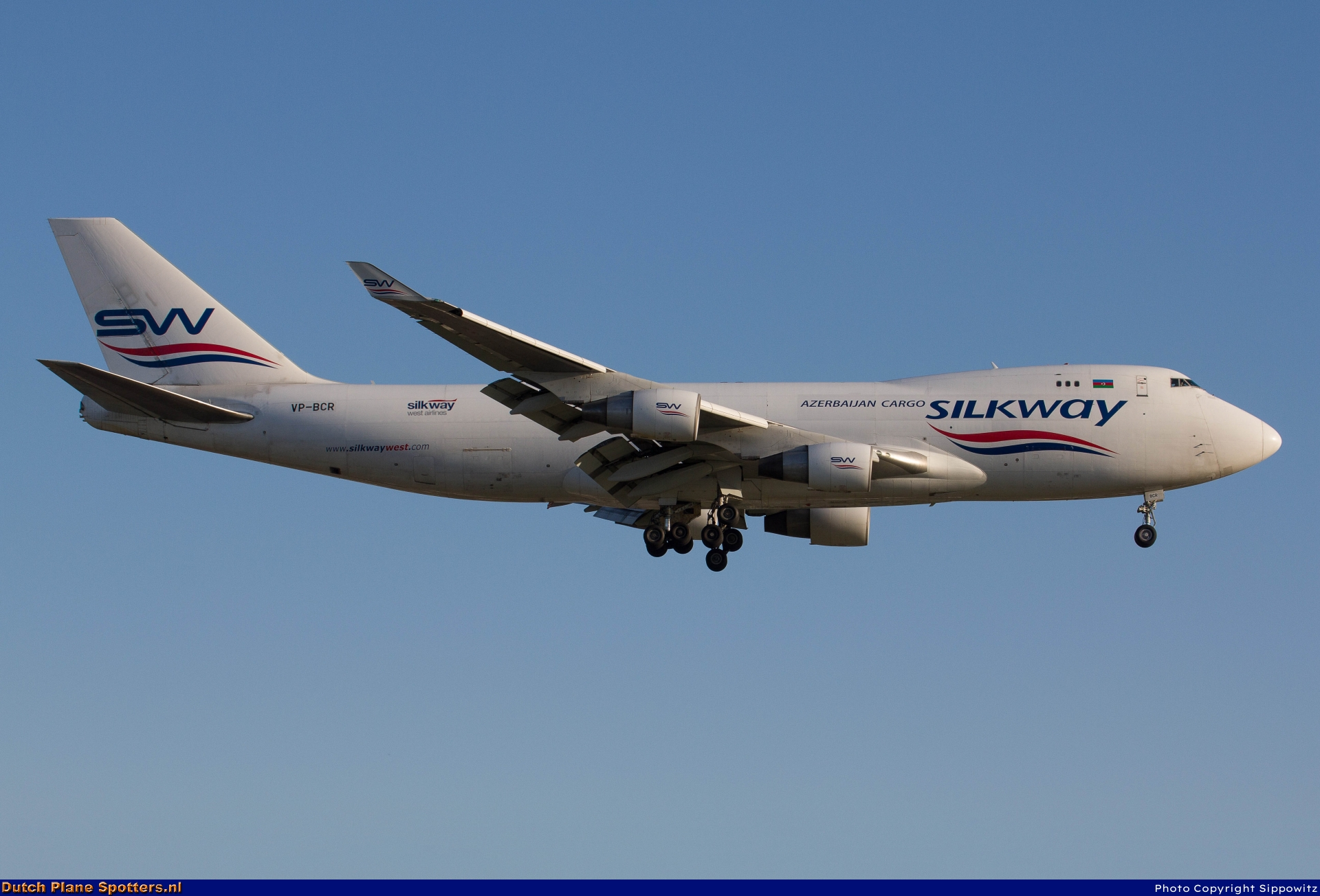 VP-BCR Boeing 747-400 Silk Way West Airlines by Sippowitz