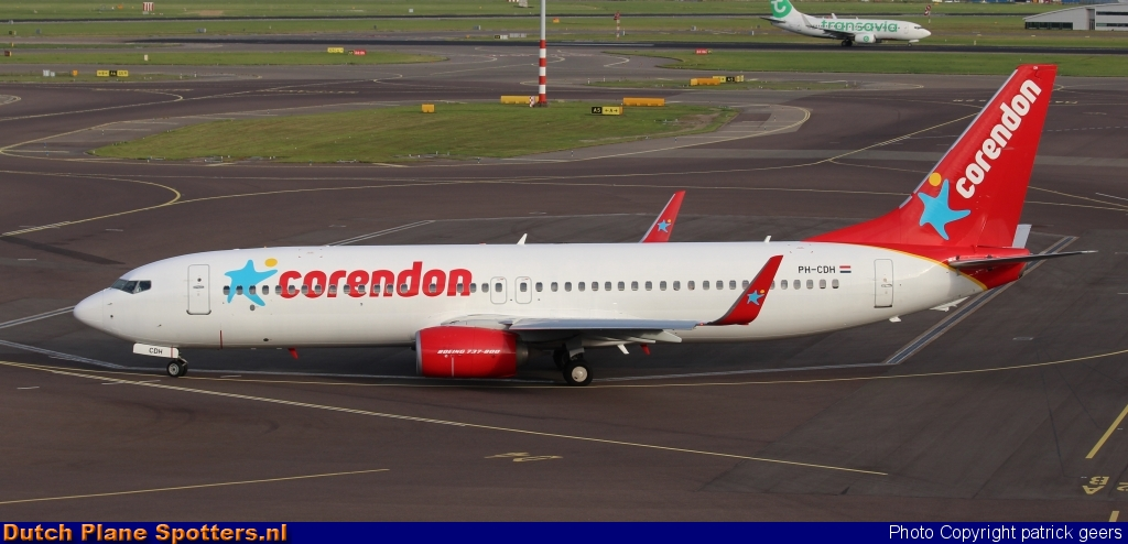 PH-CDH Boeing 737-800 Corendon Airlines by patrick geers