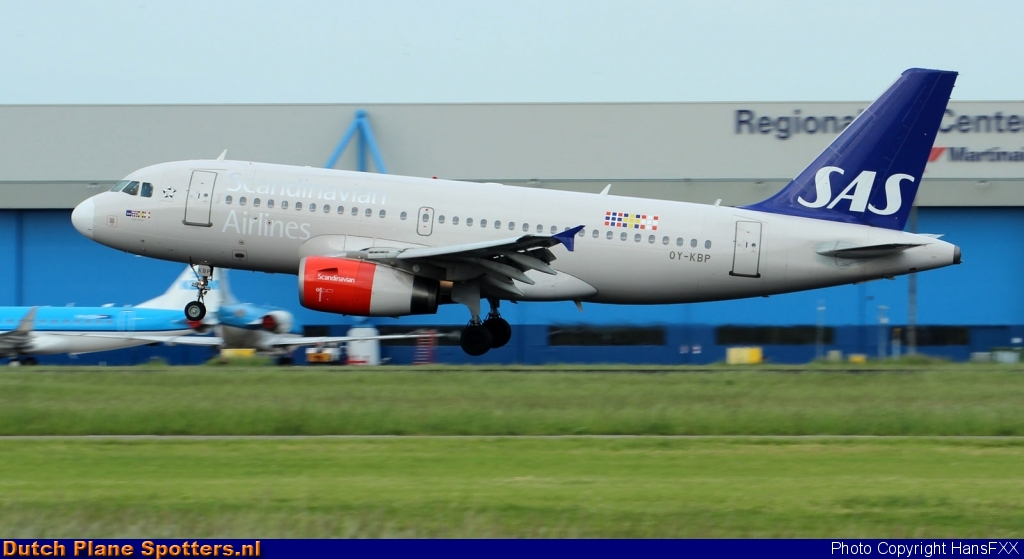 OY-KBP Airbus A319 SAS Scandinavian Airlines by HansFXX
