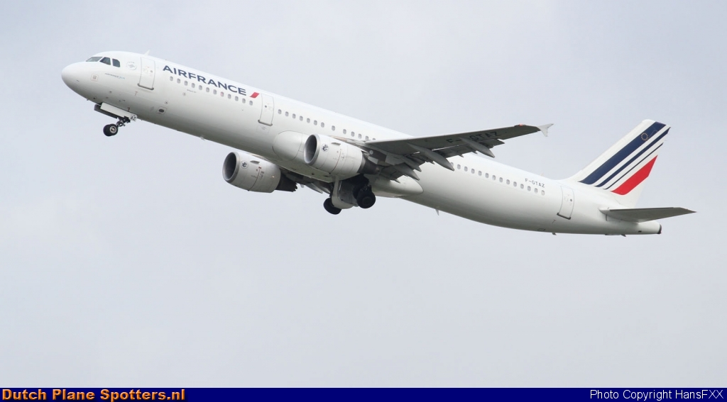 F-GTAZ Airbus A321 Air France by HansFXX