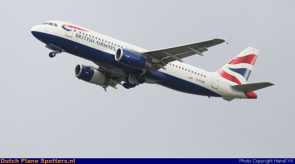 G-EUUB Airbus A320 British Airways by HansFXX