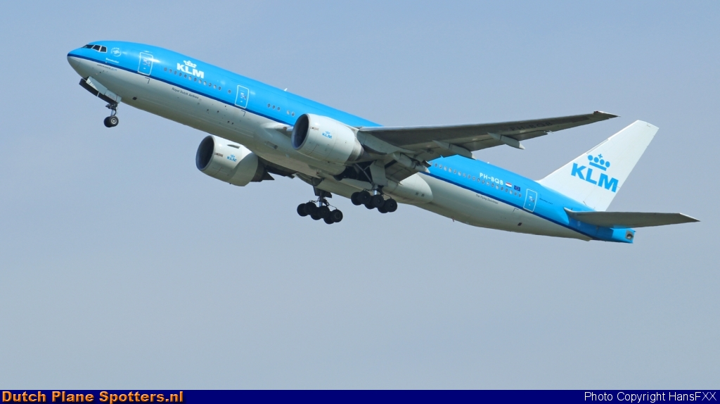 PH-BQB Boeing 777-200 KLM Royal Dutch Airlines by HansFXX