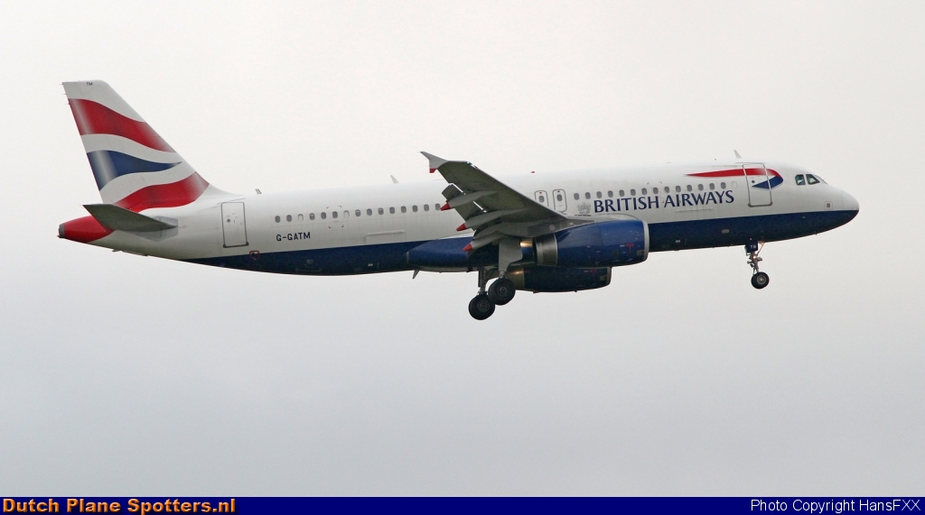 G-GATM Airbus A320 British Airways by HansFXX