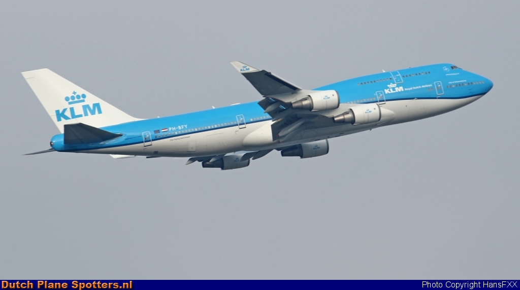 PH-BFY Boeing 747-400 KLM Royal Dutch Airlines by HansFXX