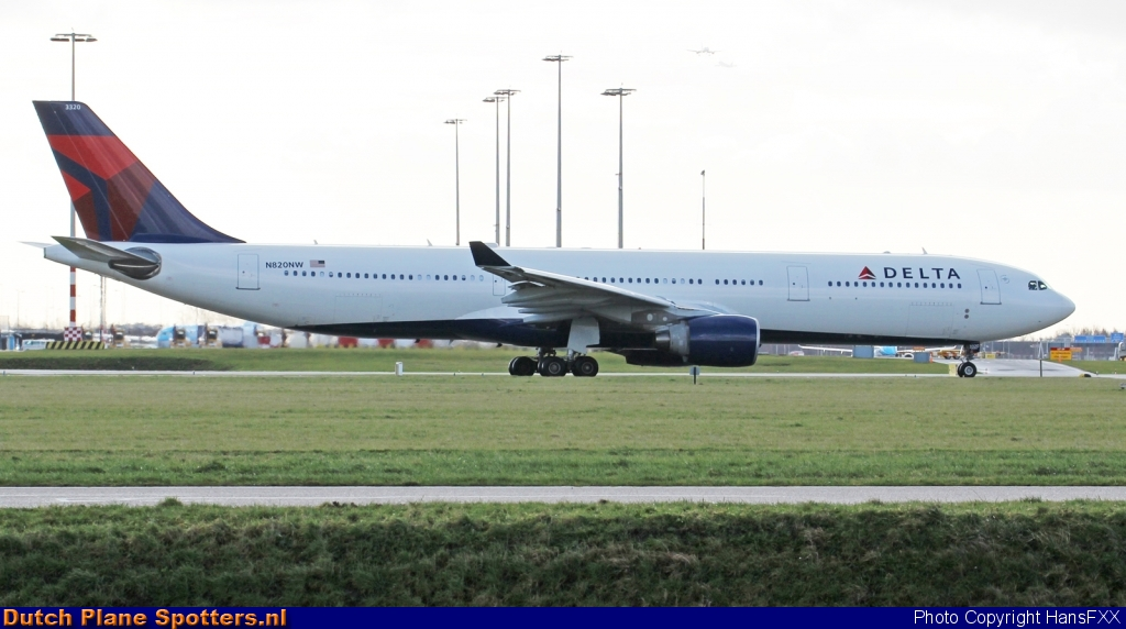 N820NW Airbus A330-300 Delta Airlines by HansFXX