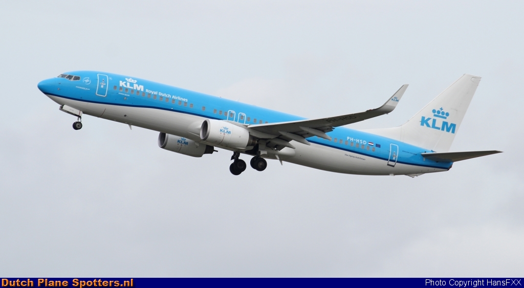 PH-HSD Boeing 737-800 KLM Royal Dutch Airlines by HansFXX