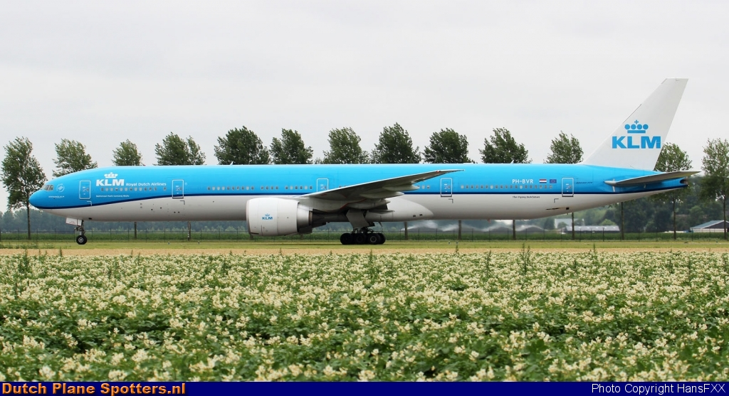 PH-BVR Boeing 777-300 KLM Royal Dutch Airlines by HansFXX