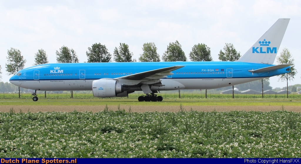 PH-BQA Boeing 777-200 KLM Royal Dutch Airlines by HansFXX