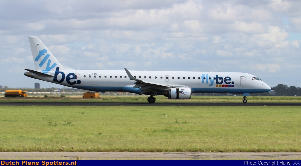 G-FBEN Embraer 195 Flybe by HansFXX