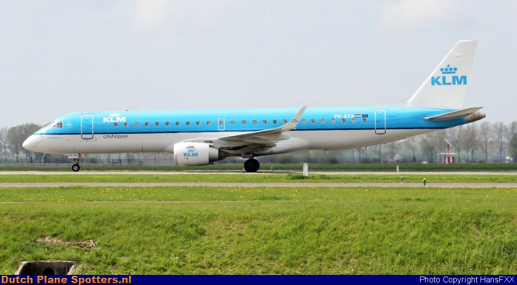 PH-EXA Embraer 190 KLM Cityhopper by HansFXX