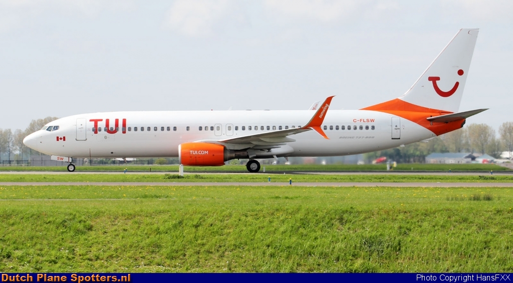 C-FLSW Boeing 737-800 Sunwing Airlines (TUI Airlines Netherlands) by HansFXX