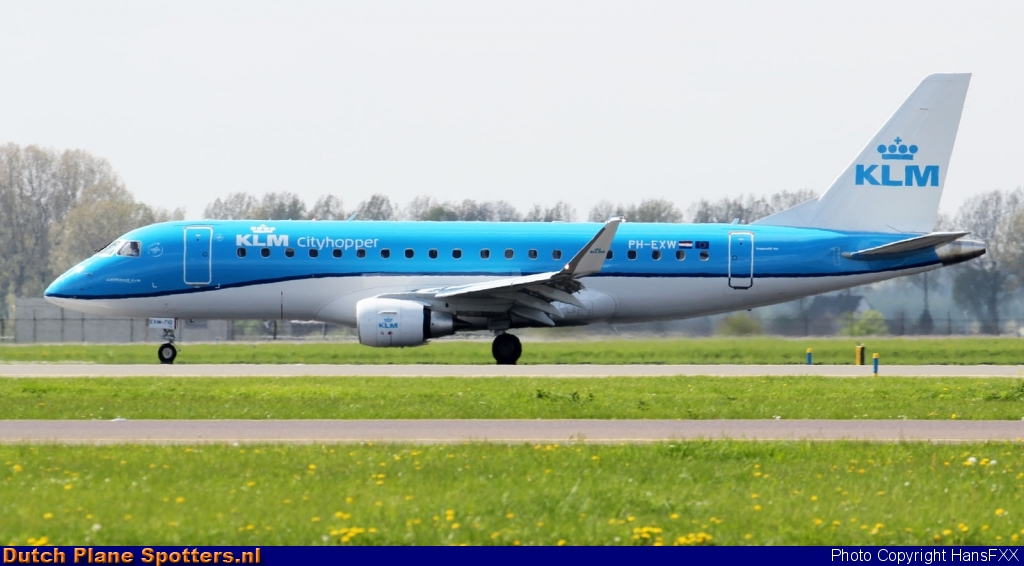 PH-EXW Embraer 175 KLM Cityhopper by HansFXX