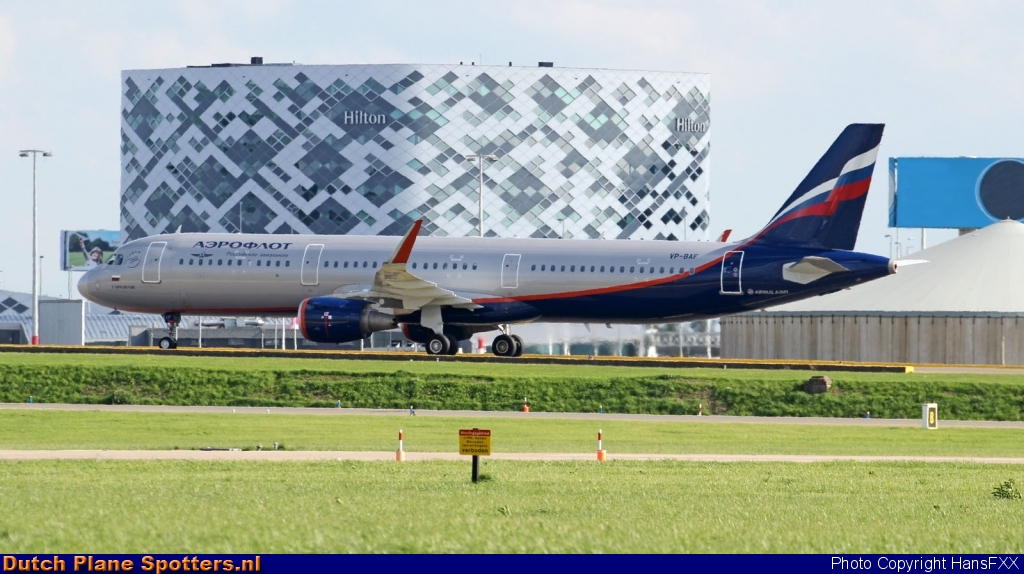 VP-BAF Airbus A321 Aeroflot - Russian Airlines by HansFXX