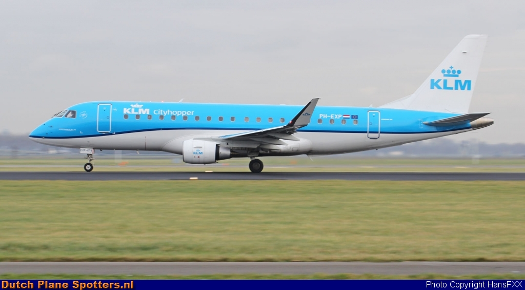 PH-EXP Embraer 175 KLM Cityhopper by HansFXX