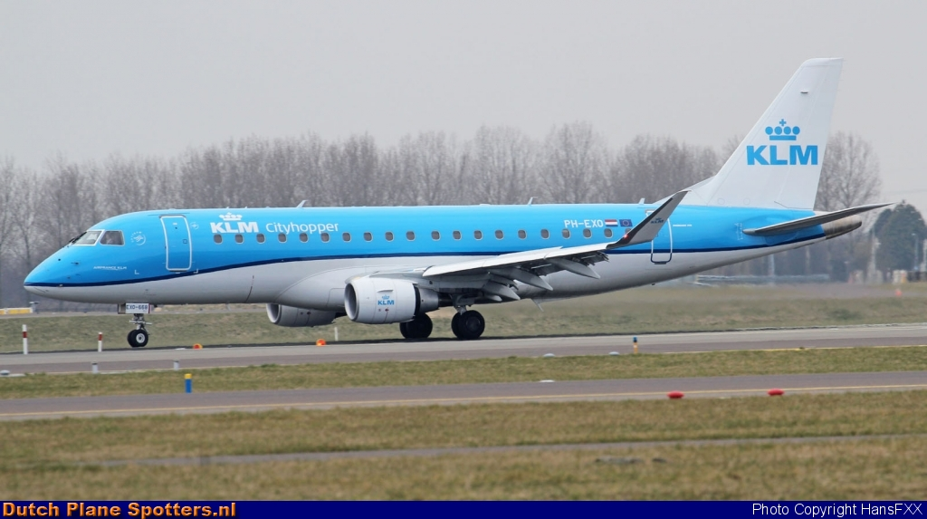 PH-EXO Embraer 175 KLM Cityhopper by HansFXX