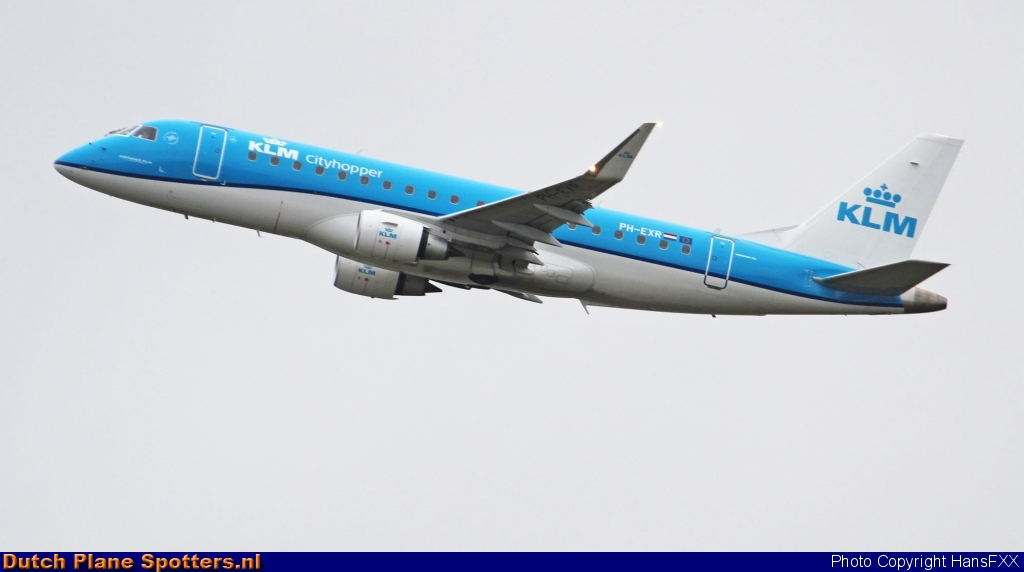 PH-EXR Embraer 175 KLM Cityhopper by HansFXX