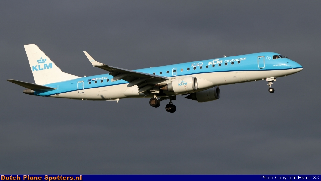 PH-EXD Embraer 190 KLM Cityhopper by HansFXX
