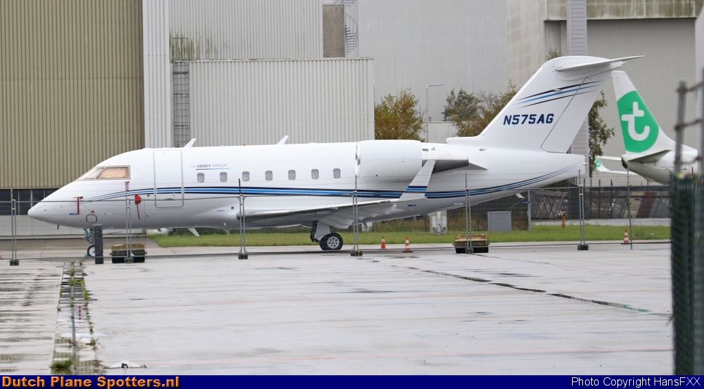 N575AG Bombardier Challenger 604 Abbey Group by HansFXX