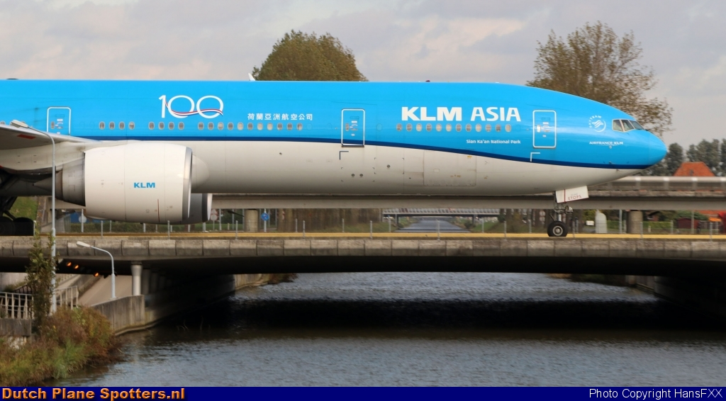 PH-BVC Boeing 777-300 KLM Asia by HansFXX