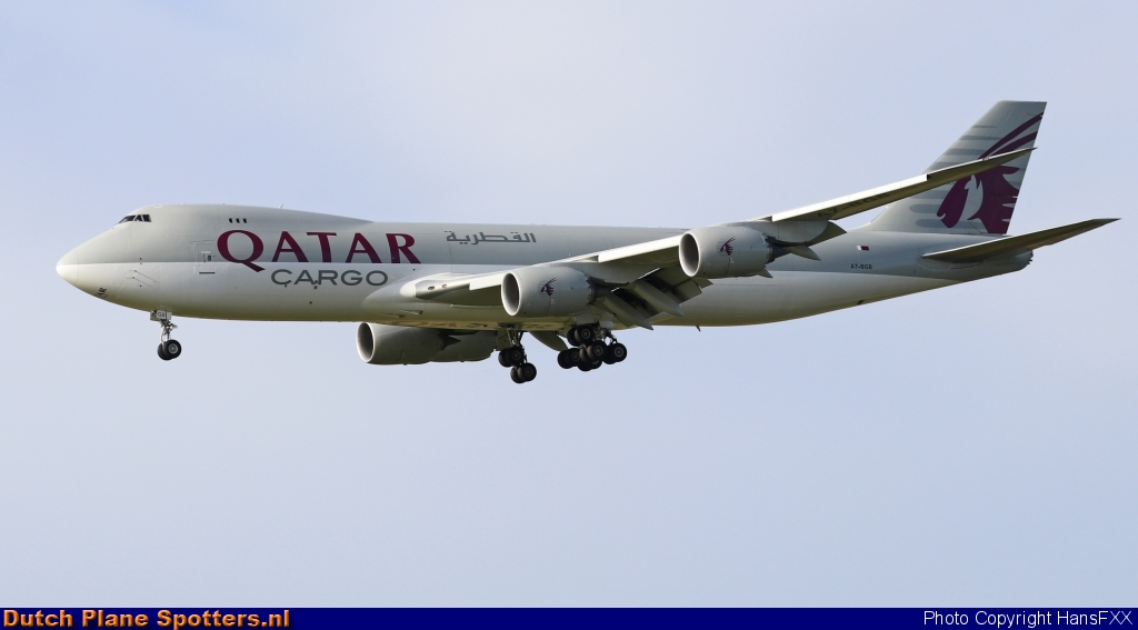 A7-BGB Boeing 747-8 Qatar Airways Cargo by HansFXX
