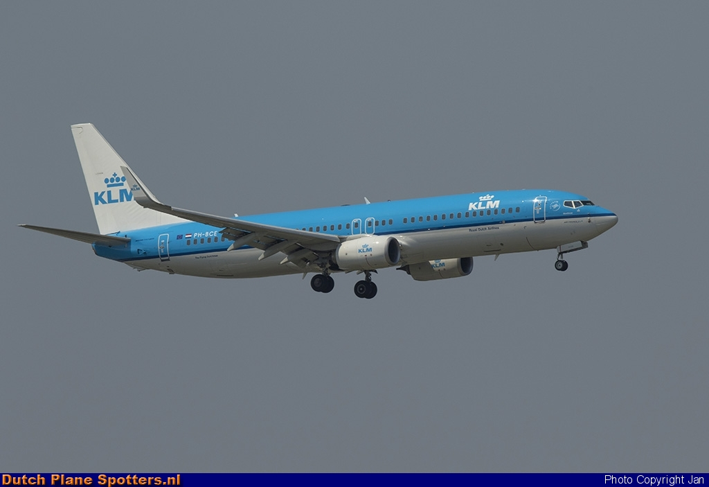 PH-BCE Boeing 737-800 KLM Royal Dutch Airlines by Jan