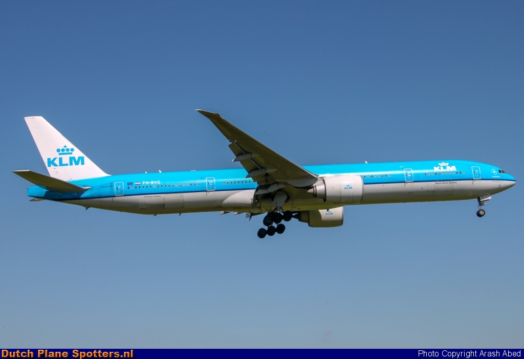PH-BVG Boeing 777-300 KLM Royal Dutch Airlines by Arash Abed