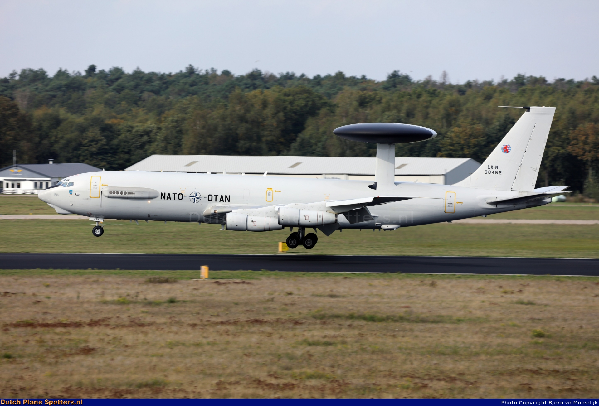 LX-N90452 Boeing E-3 Sentry MIL - NATO Airborne Early Warning Force by Bjorn vd Moosdijk