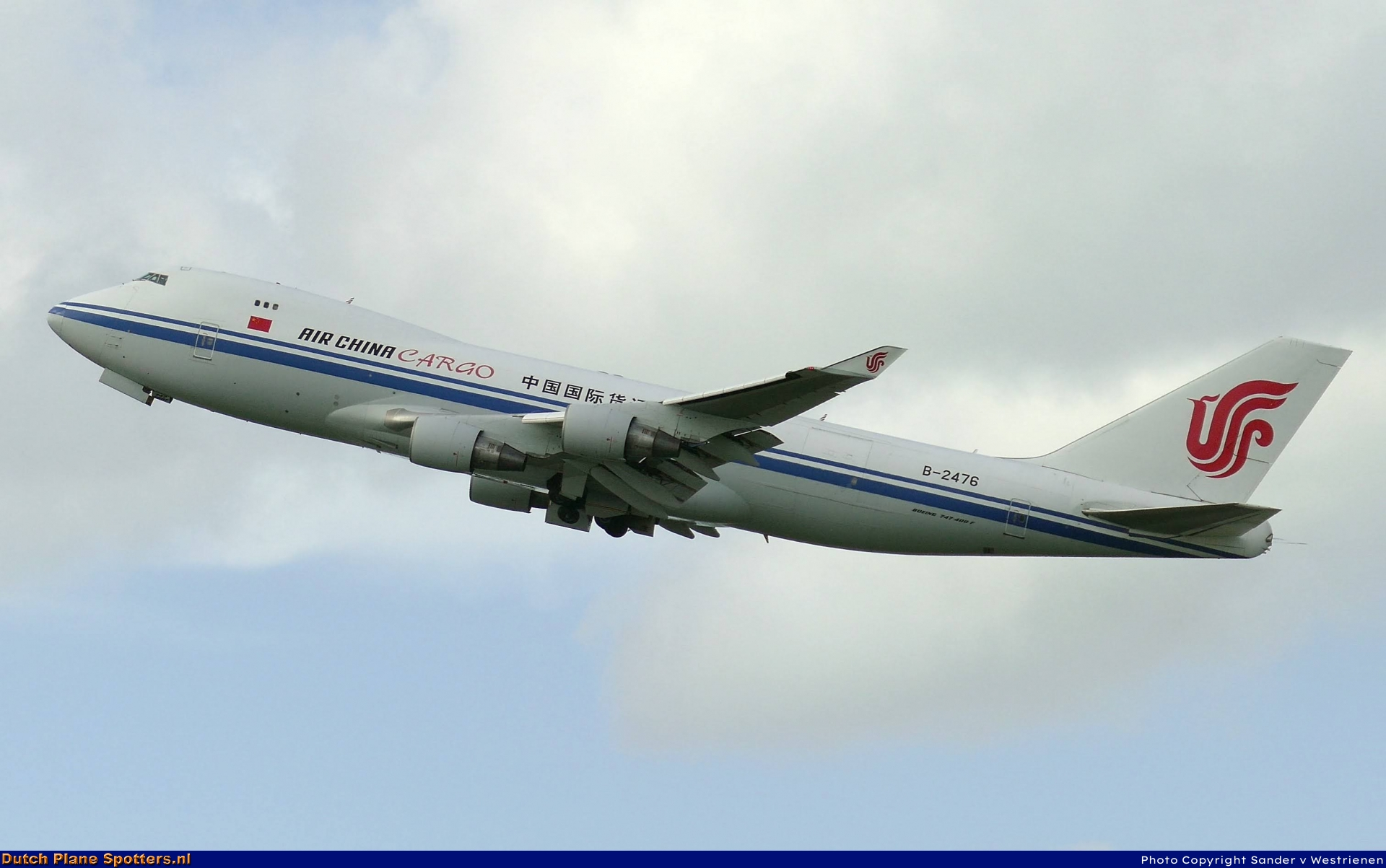B-2476 Boeing 747-400 Air China Cargo by Sander v Westrienen