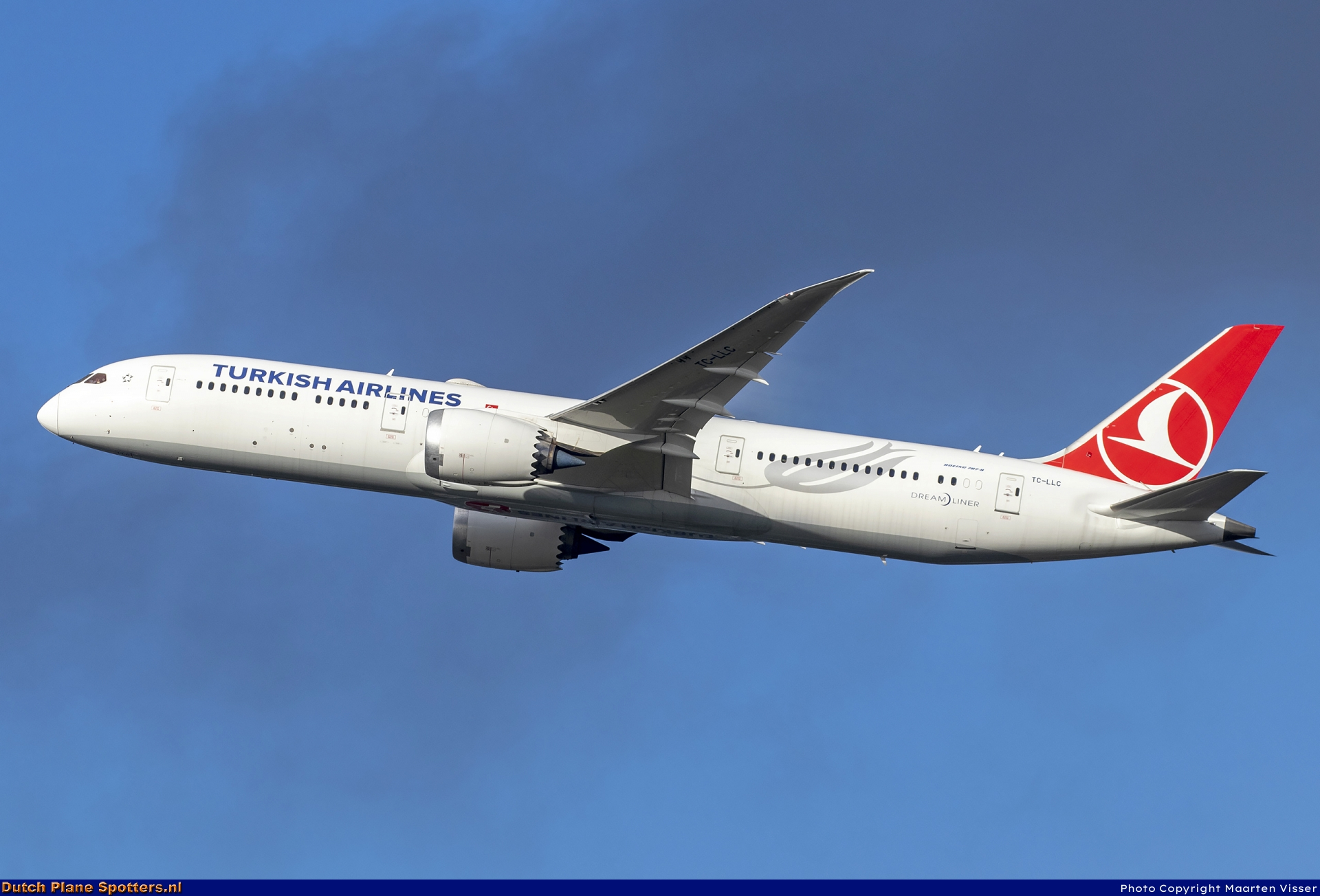 TC-LLC Boeing 787-9 Dreamliner Turkish Airlines by Maarten Visser