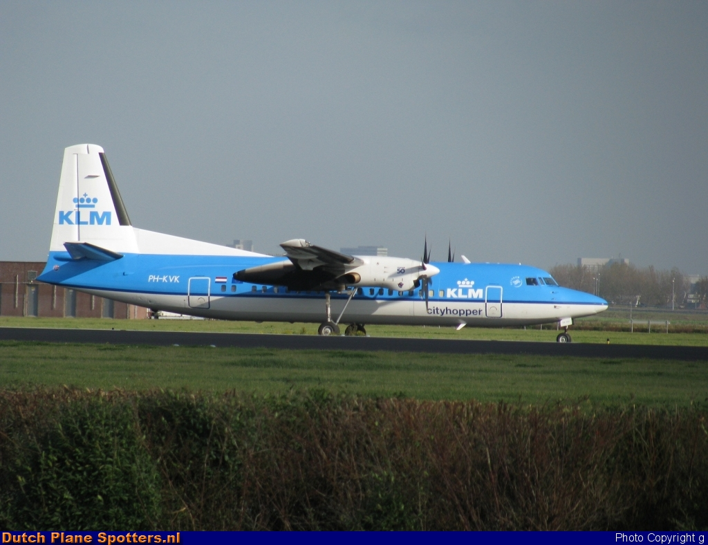 PH-KVK Fokker 50 KLM Cityhopper by g