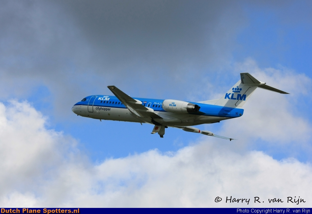 PH-KZO Fokker 70 KLM Cityhopper by Harry R. van Rijn
