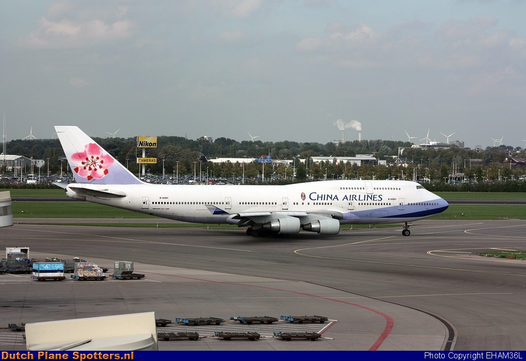 B-18201 Boeing 747-400 China Airlines by EHAM36L