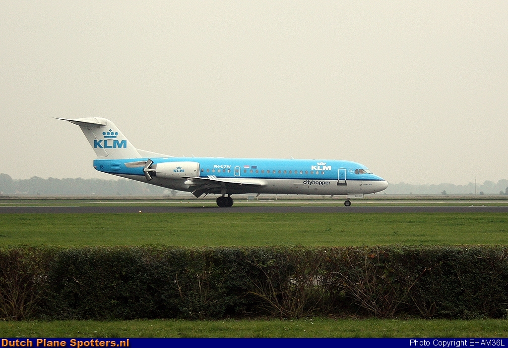 PH-KZW Fokker 70 KLM Cityhopper by EHAM36L